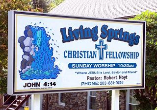 Living Springs Sign